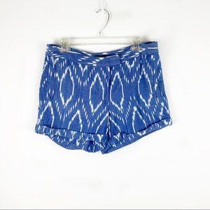 J. Crew Blue & White Cotton Shorts